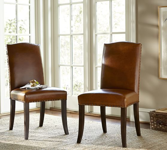 staten side chair | pottery barn similar to typical parson's chair