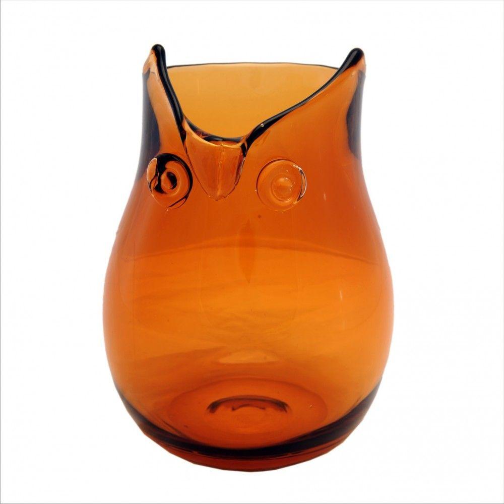 Vaso Vidro Ambar Transparente 178571A 25x18cm