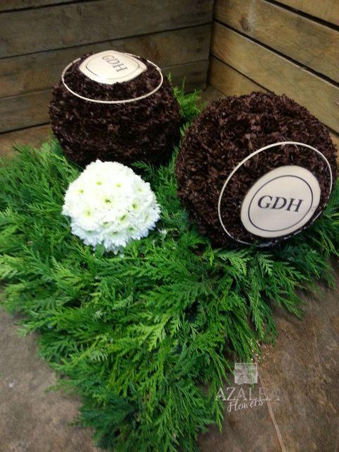 Bowling Green Www Azaleaflowers Co Uk Funeral Flower Arrangements Green Funeral Funeral Tributes