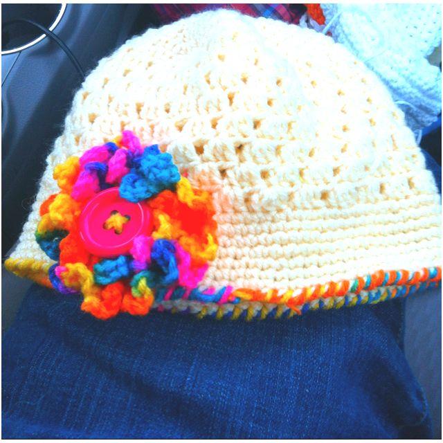 Crochet Toddler girls summer hat