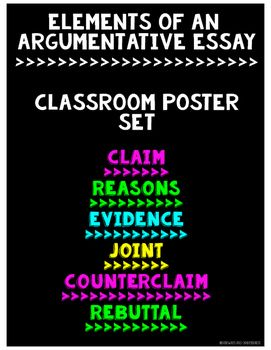 Argument Writing Classroom Poster Set Argumentative Writing
