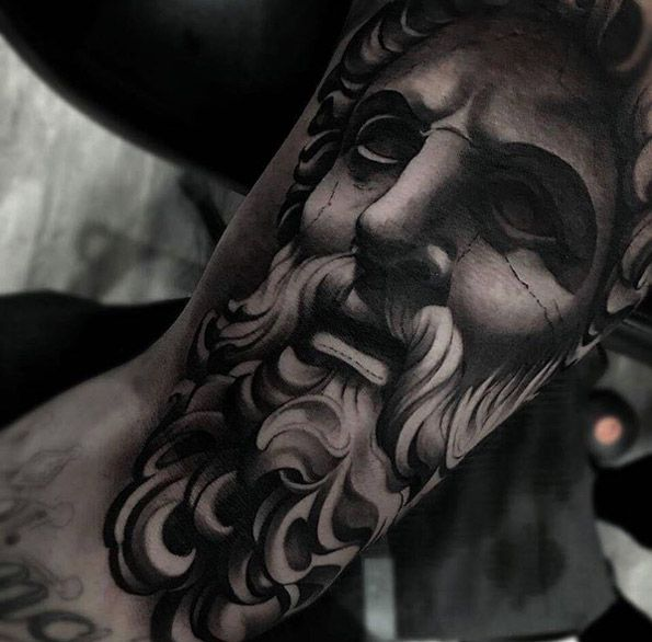 Classical sculpture tattoo by Matias Noble