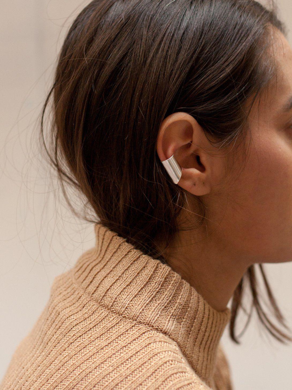 Uneven ear cuff   Jewel, Jewelry branding and Ear rings