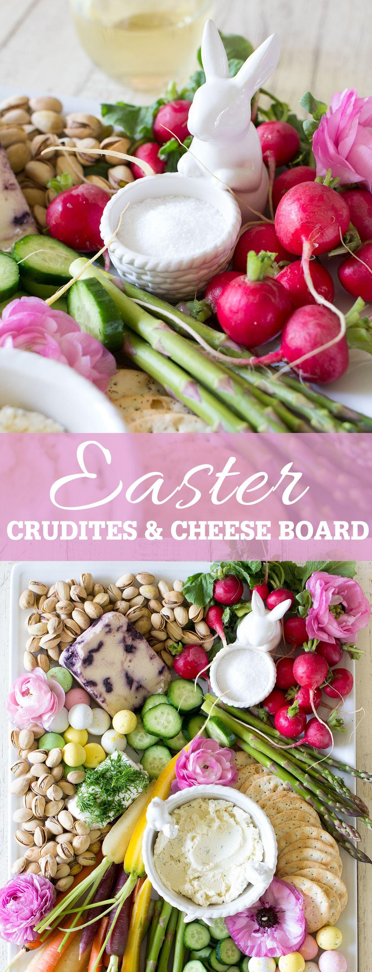 Easter Cheese and Crudites Board
