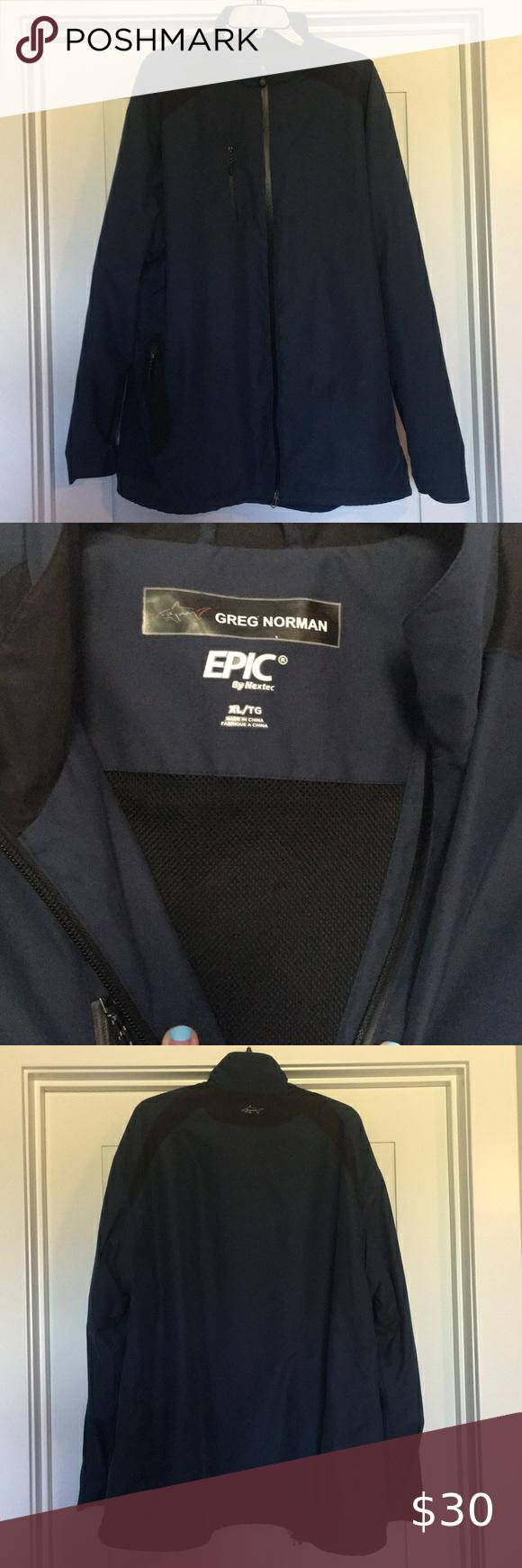 Greg Norman Zip Up Jacket In 2020 Jackets Greg Norman Zip Ups
