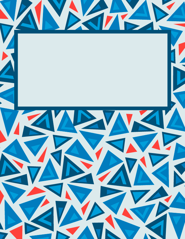 Free Printable Triangle Binder Cover Template Download The Cover