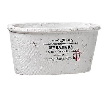 Macetero De Cemento Blanco Grande Maceteros De Cemento