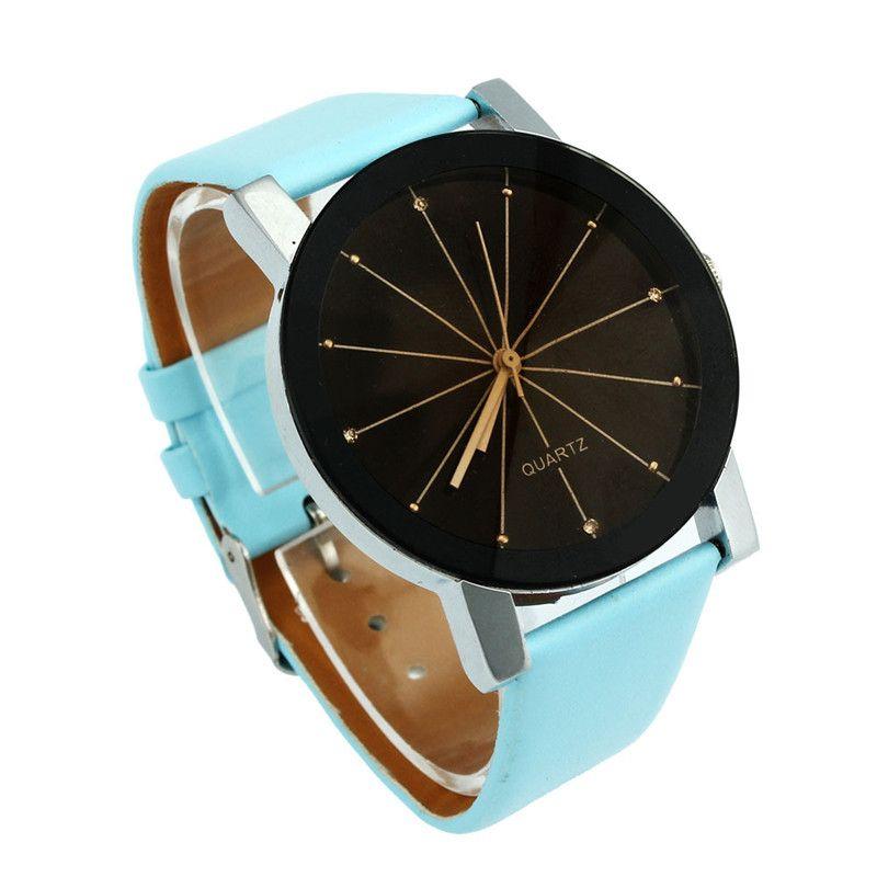 >> Click to Buy << Cheap Women Men Watch Analog Quartz-Watch Fashion Dial Clock Round Case Simple Style PU Leather Wrist Watches for Women Reloj #Affiliate