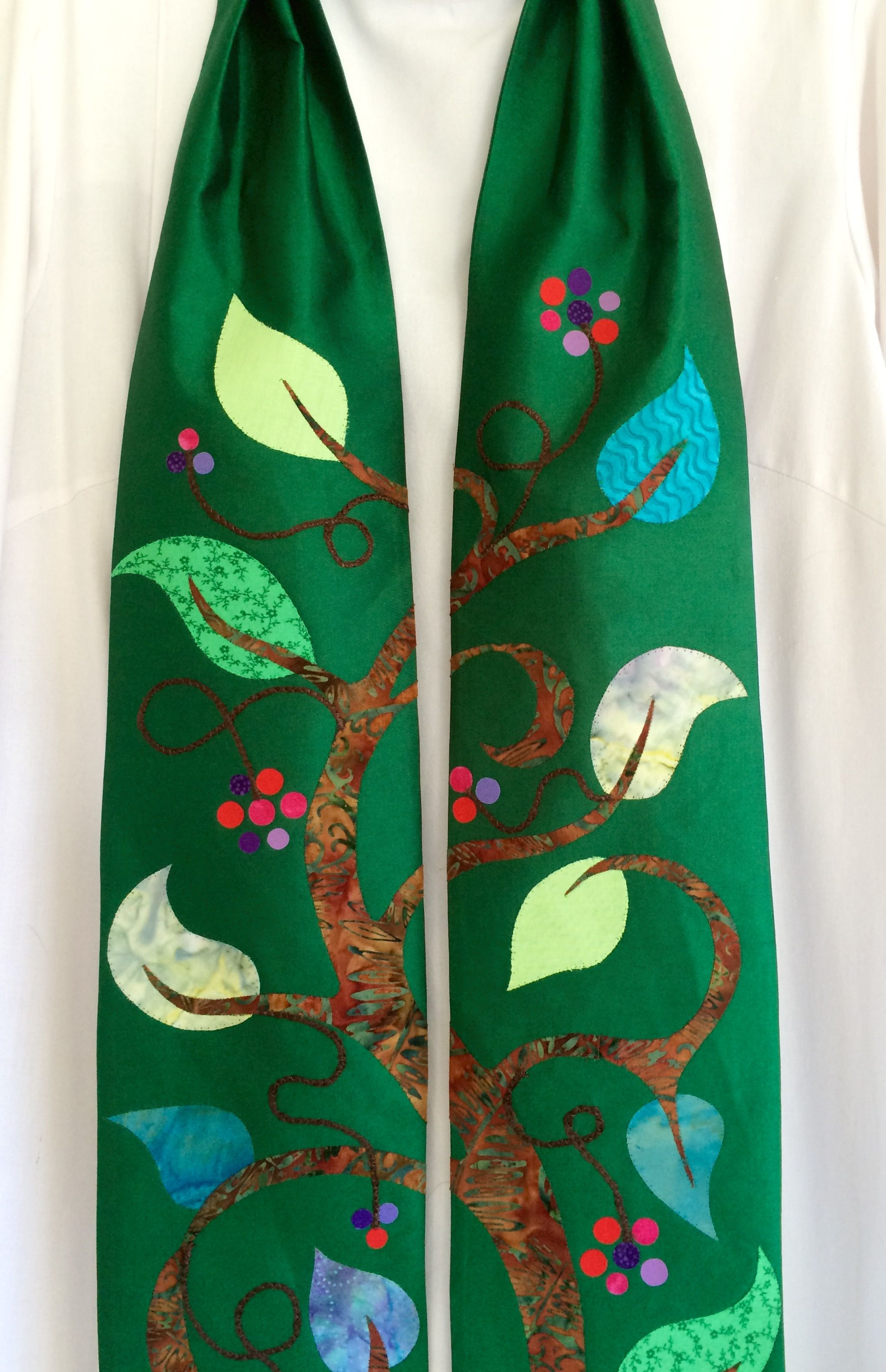 Tree Of Life Great For Ordinary Time Silk Fabric With
