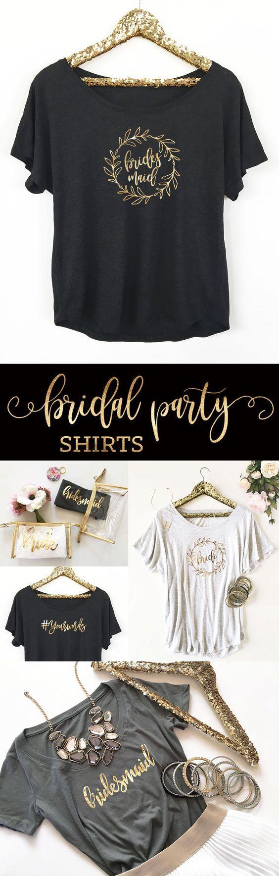 Bridal Party Shirts Bridesmaid Wedding Bachelorette Custom
