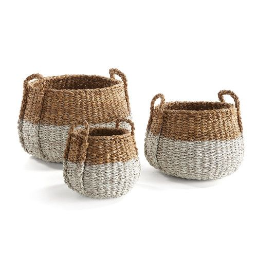 Seagrass baskets add texture and warmth. | $89