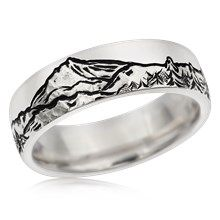Mountain Wedding Bands | Krikawa