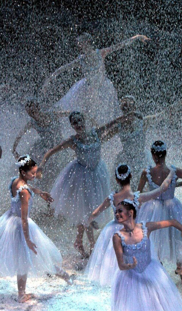 Casse Noisette Valse Des Flocons De Neige Danse Classique Ballerine Danseuse Danseurs De Ballet