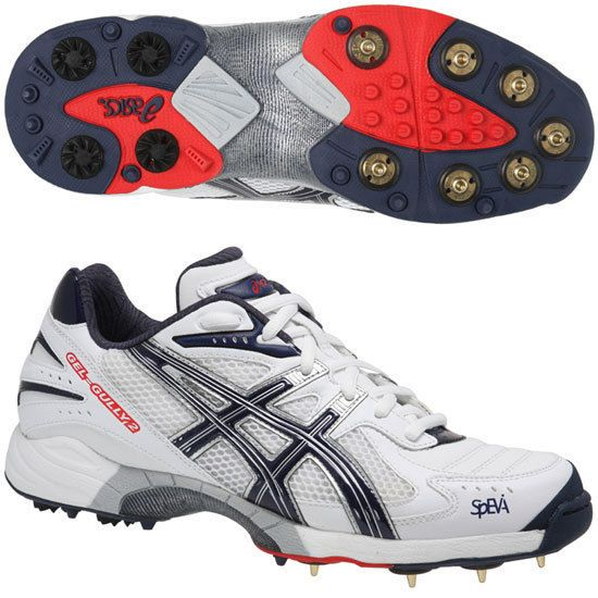 Asics Gel 100 Not Out Cricket Shoes Playersstop Com Shoe Liners Asics Spike Shoes