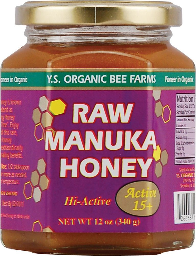 YS Eco Bee Farms Raw Manuka Honey Hi-Active 15 Plus -- Excellent for wound care and infection