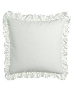 """H6Z9B French Laundry Home Aimee Washed Velvet European Sham with 3"""" Satin Ruffle"""