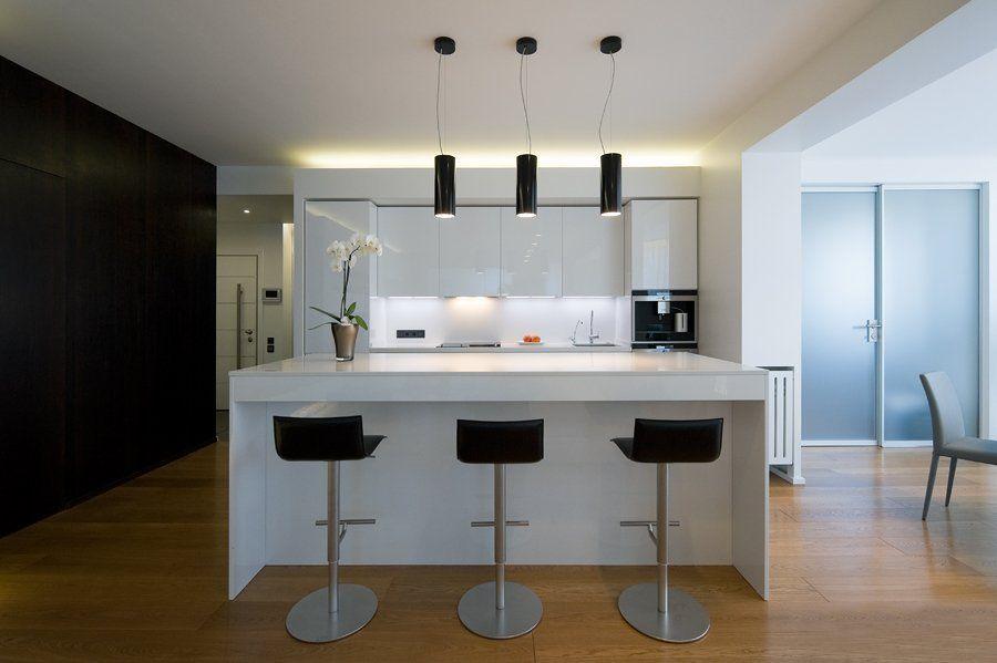 Contemporary Apartment With Minimalist Kitchen Interior Design (