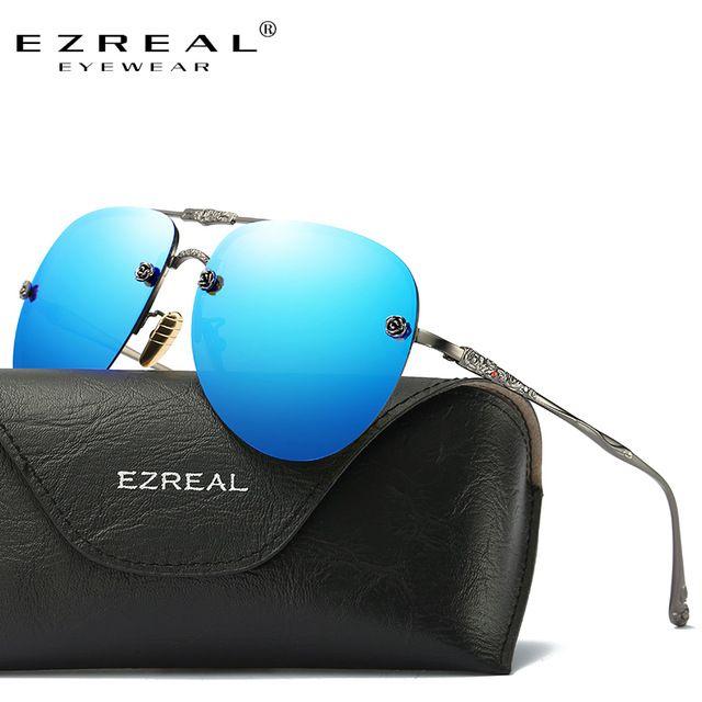 EZREAL Moda Óculos De Sol Das Mulheres Populares de Design Da Marca Óculos  Polarizados Verão HD Lente Polaroid Óculos de Sol Com Caixa Original 487aa97b14