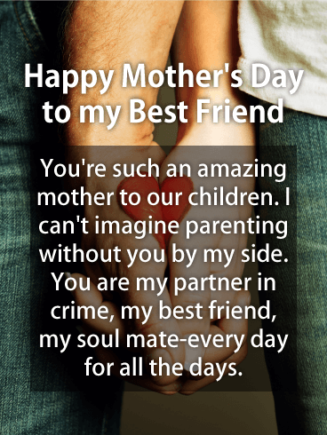 To My Partner In Crime Happy Mother S Day Card For Wife Birthday Greeting Cards By Davia Happy Mothers Day Wishes Happy Mother Day Quotes Happy Mother S Day Card