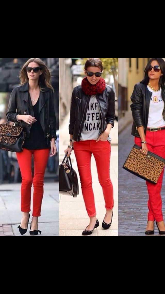 Pantalones Rojos Red Pants Red Jeans Outfit Red Pants Outfit Red Jeans Outfit Winter