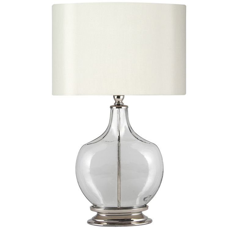 Ombre clear glass nickel table lamp base only lounge ombre clear glass nickel table lamp base only aloadofball Image collections