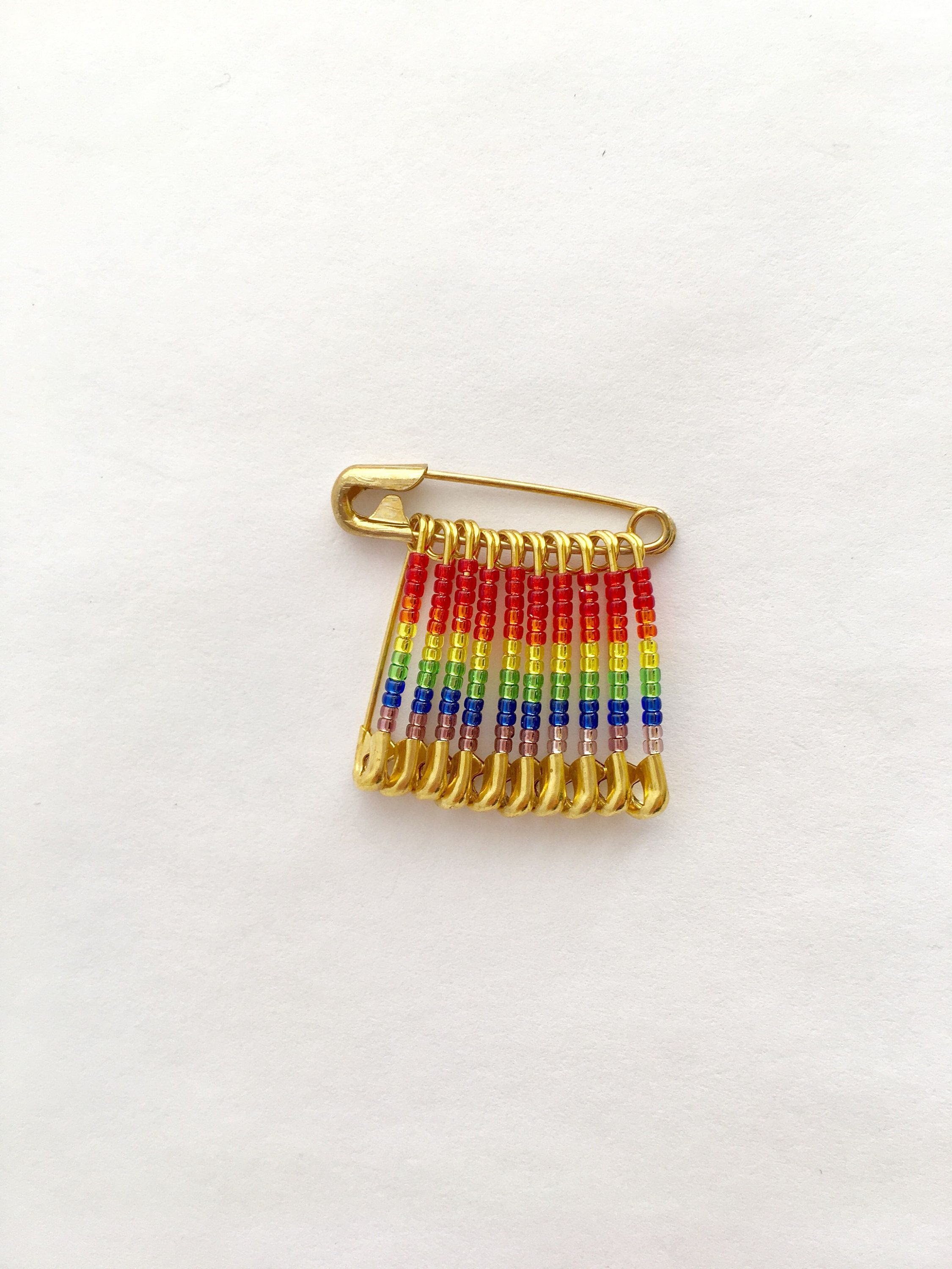 6f1f175f8 Pride Flag Pin Handmade Holiday Gift Stocking Stuffer Lapel Pin LGBT Beaded  Flag Gay Flag Pin Birthday Gift Brooch Beaded Flag Pin by FlagPinsbyAnnette  on ...