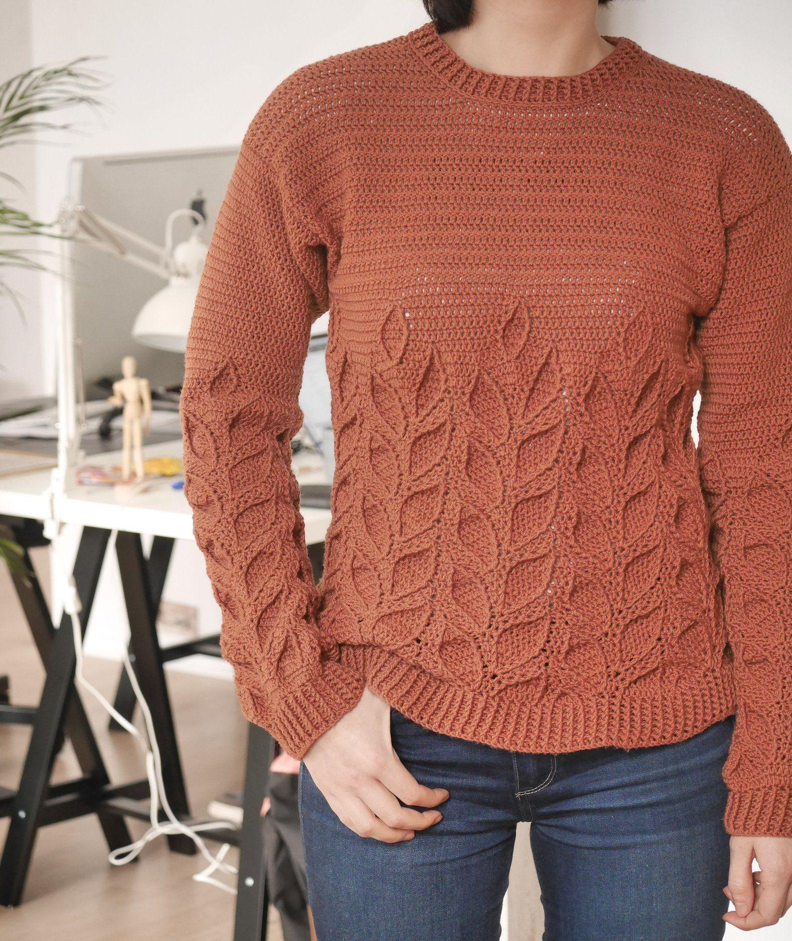 27dca6d1a931 Crochet Sweater Pattern PDF Lau Sweater crochet crew neck