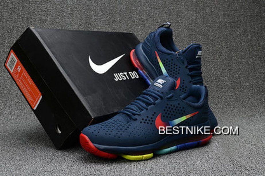 fba06a7e5c Nike Air Max 2018 Dlx Blue Rainbow Red Yellow Shoes Copuon en 2019 ...