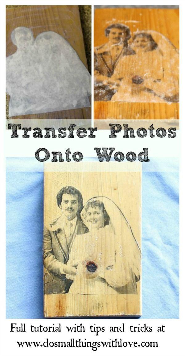 Photo Transfer Onto Wood Photo Transfer Onto Wood Photo Onto
