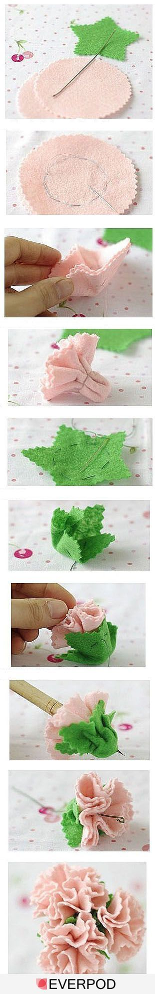 Flores Bricolaje - ninguna palabra tutorial, pero las fotos son bastante claro .... http://96195.com/pic-669.html: