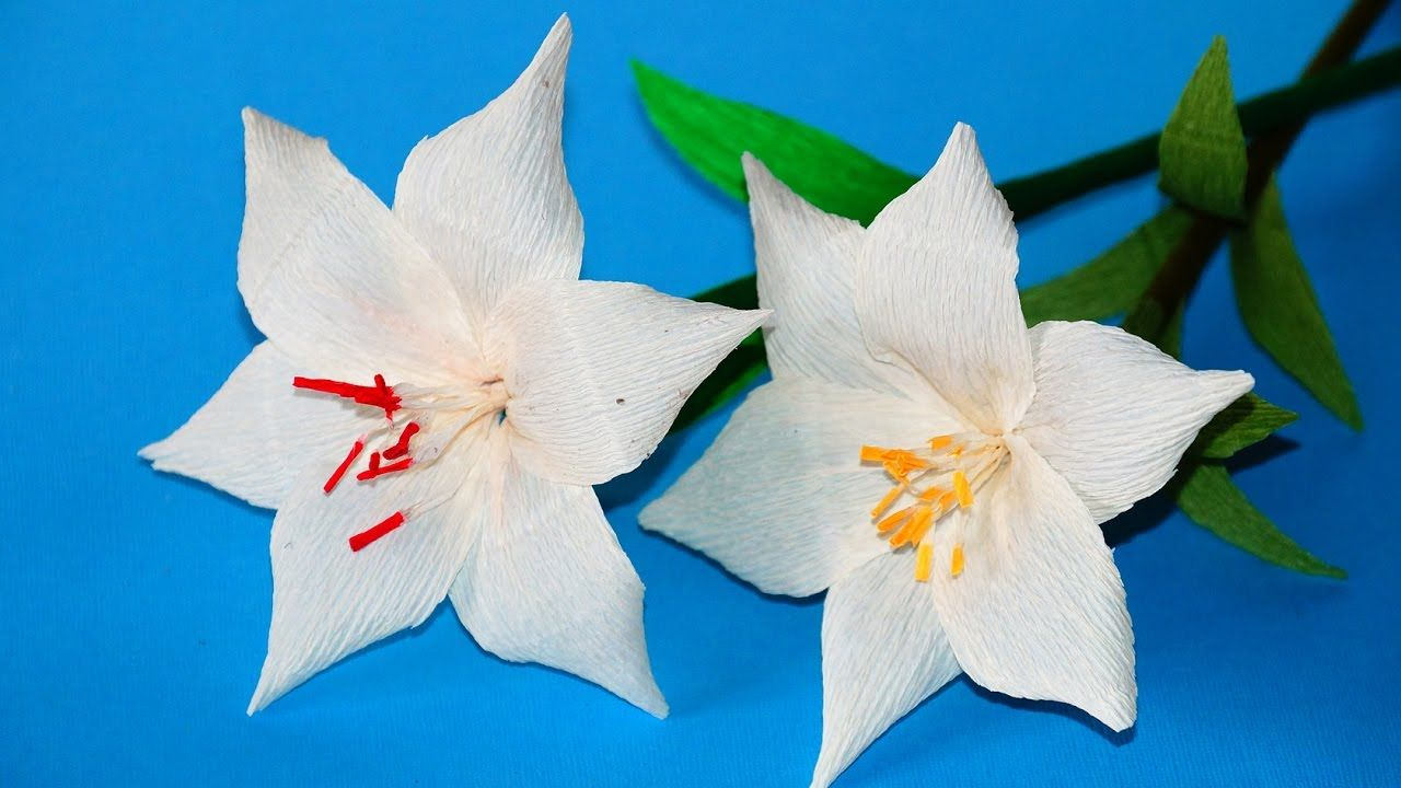 Easy Flowers Making Ideas How To Make Lily Tissue Paper Crepe
