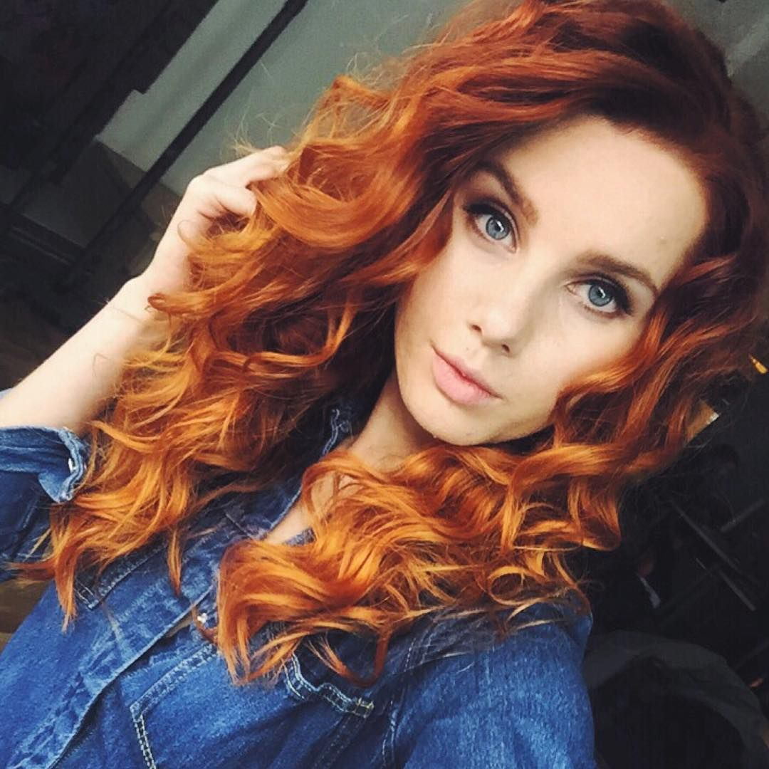 Perfect copper curls - red hair inspo with Feria. | Red ...