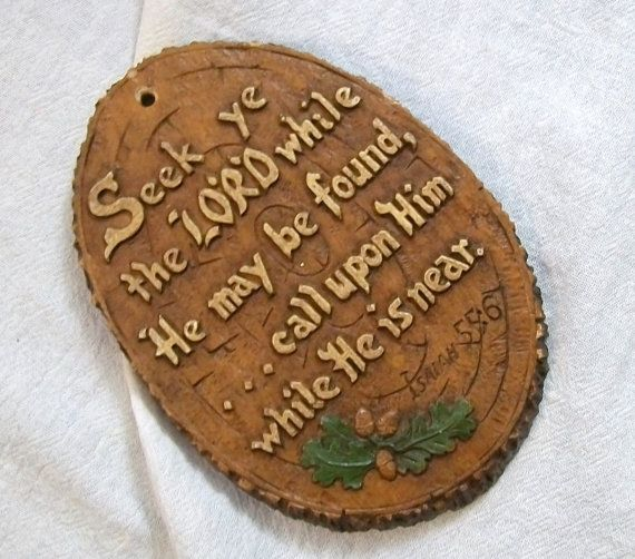 Religious Wall Plaque Jesus Plaque Isaiah 556 by VintagePlusCrafts, $6.00