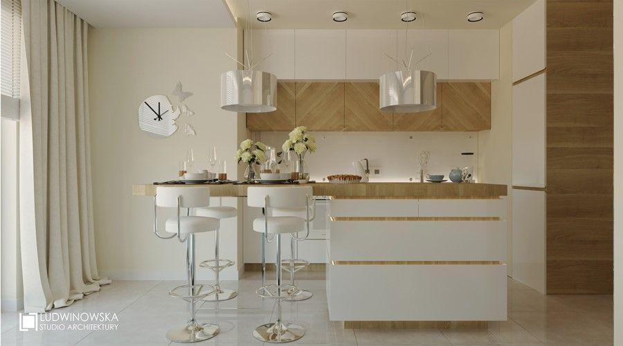 Jasne Kolory W Malej Kuchni Z Salonem Home Decor Furniture Decor