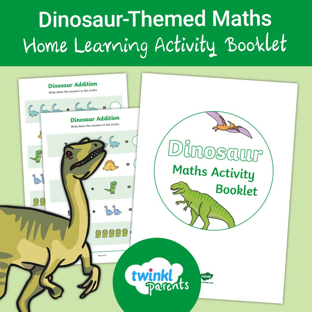 Eyfs Dinosaur Themed Maths Home Learning Activity Booklet