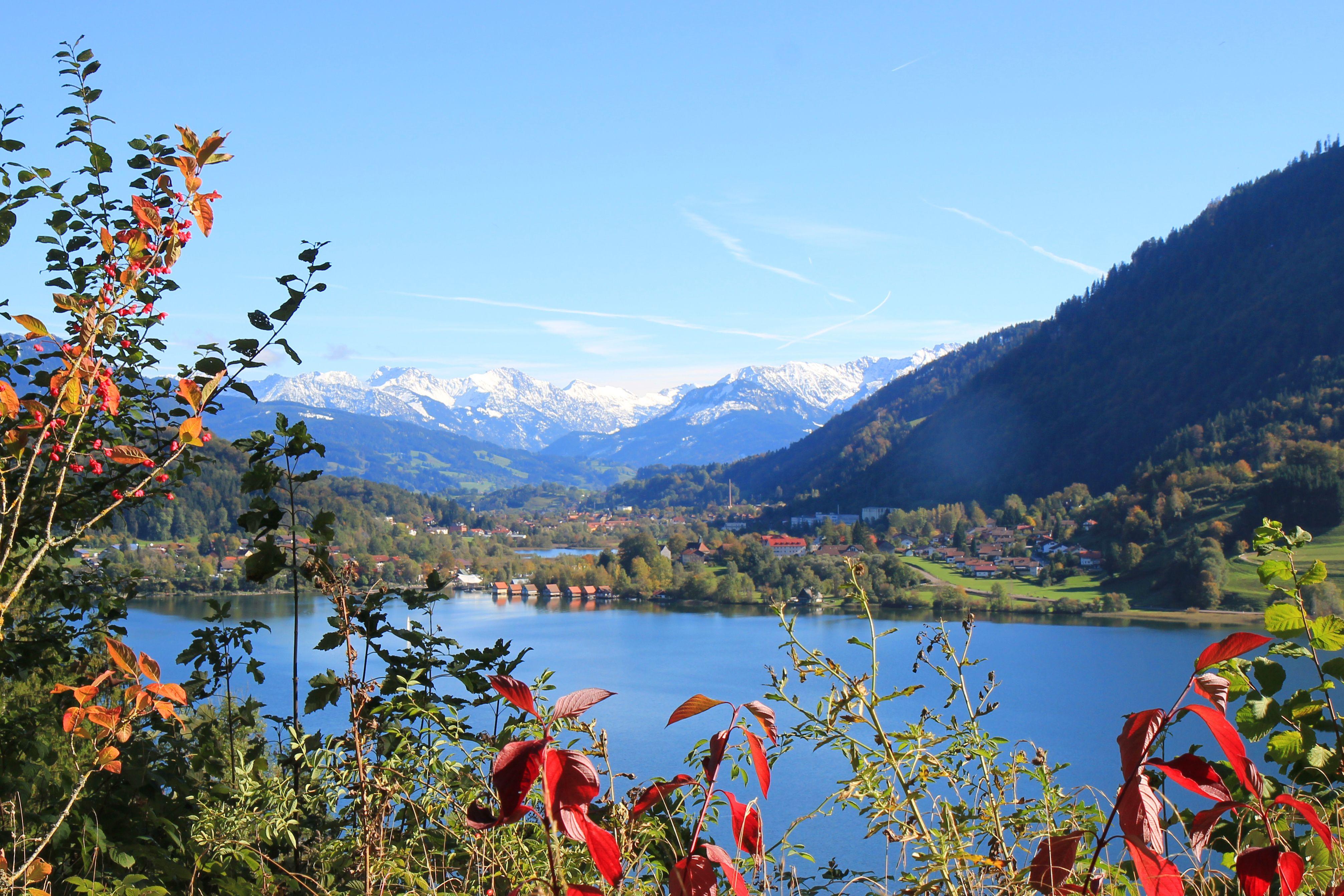 Grosser Alpsee Great Alpsee Lake In Immenstadt Im Allgau Bayern Bavaria Germany Kempten Allgau Reisen Deutschland Reisen