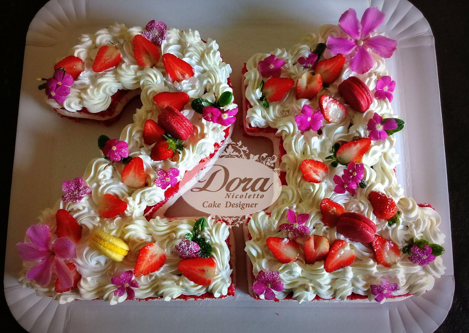 Number cake red velvet bolo de casamento bolo