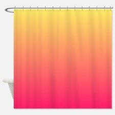Lyingcat Mug Ombre Shower Curtain Curtains Ombre Fabric
