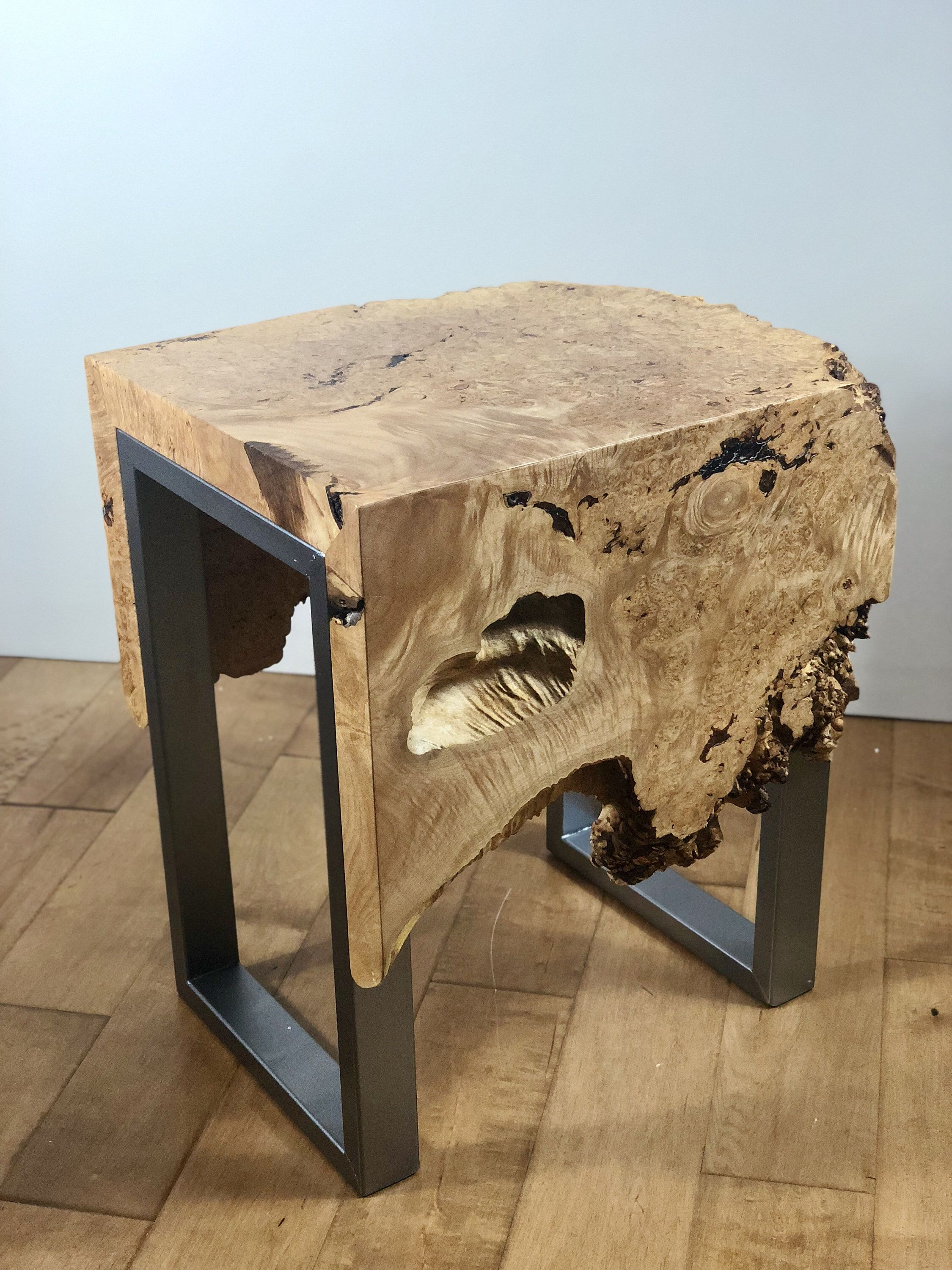 Sold Maple Burl Live Edge Waterfall End Table Live Edge Table