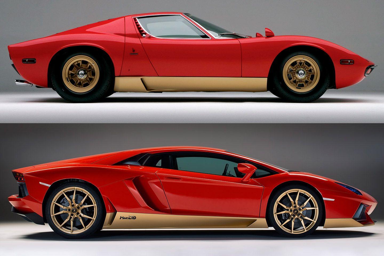 Lamborghini Aventador Miura 50 Homage Side Compare