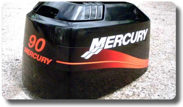 Mercury Outboard Decals - www boatnames com au | Outboard