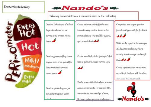 takeaway homework menu nandos