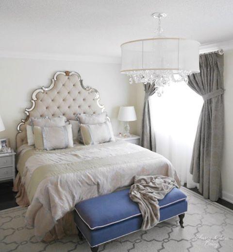 Master Bedroom Staging Ideas: Tufted Mirror Headboard