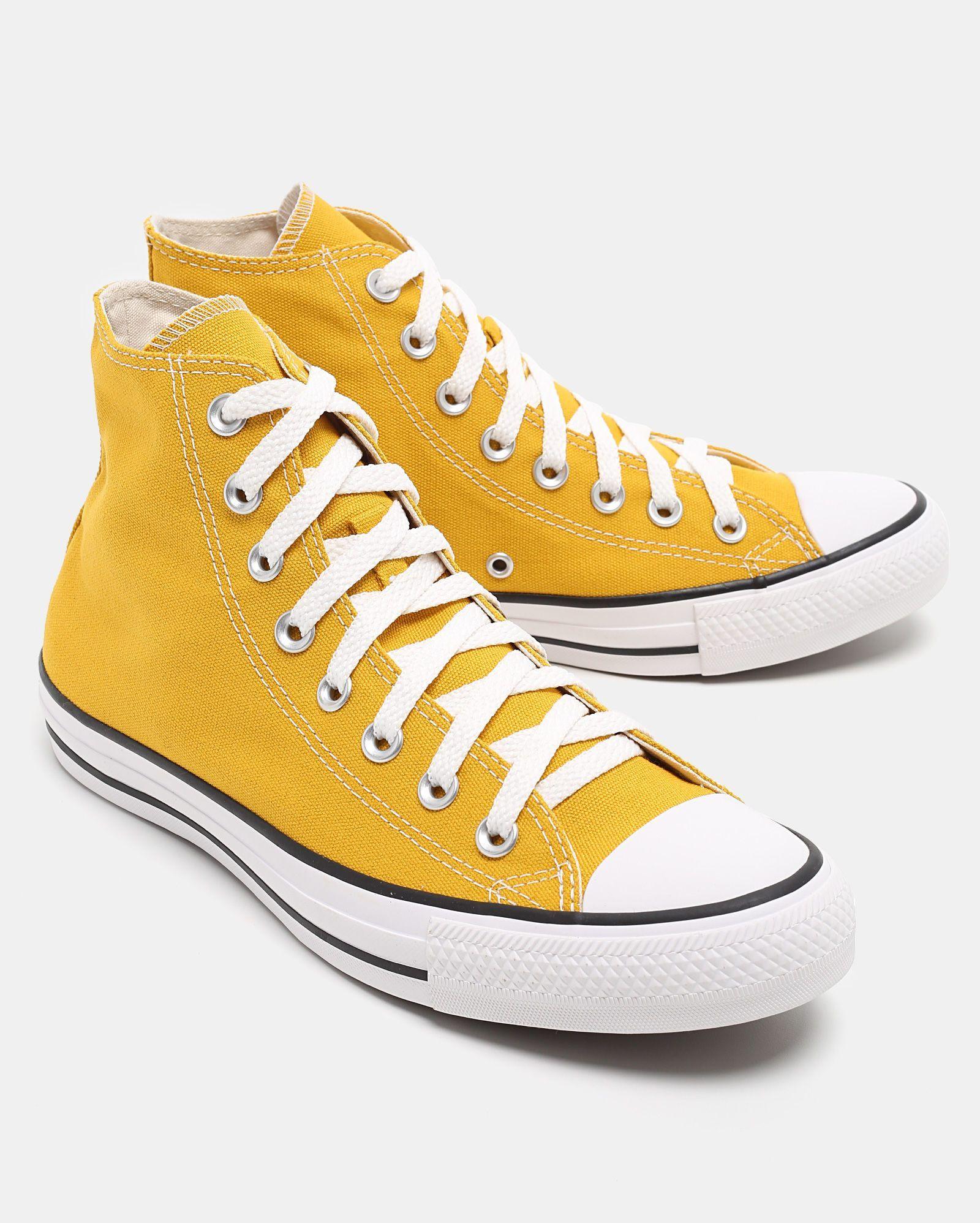 f00ecddef32 Tênis Converse All Star Chuck Taylor Cano Alto Amarelo