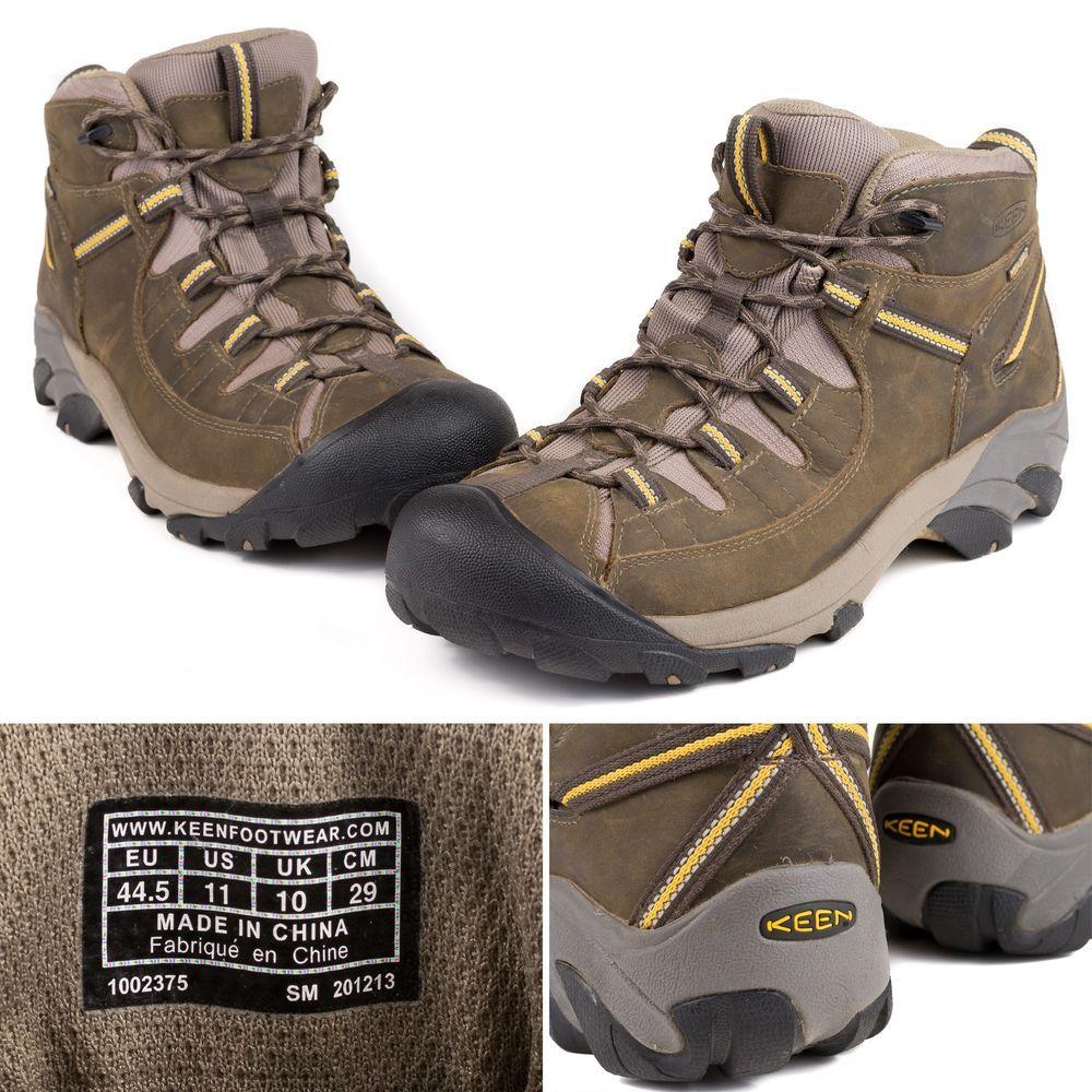 cac239cca6b Keen Mens Targhee II Mid Leather Waterproof Athletic Hiking Trail ...