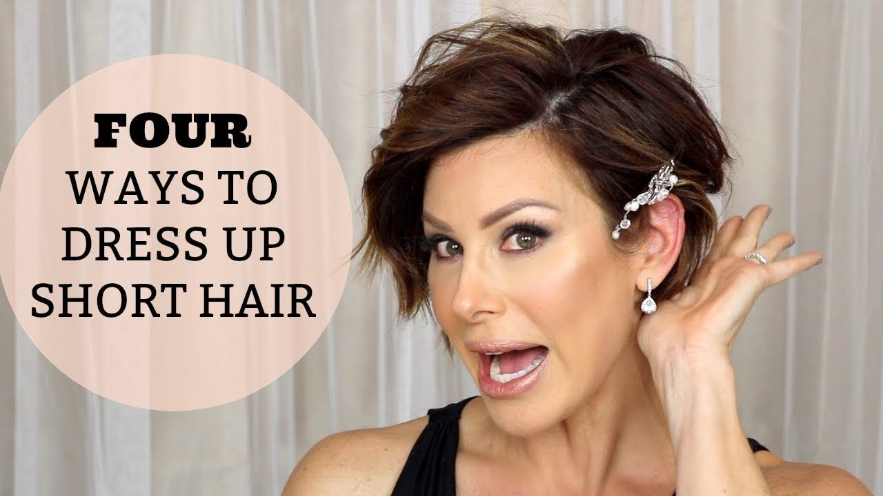 4 Quick Hairstyles To Dress Up Short Hair Youtube Dominique