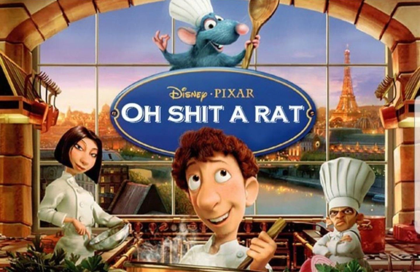 Oh Shit A Rat Ratatouille Haha Funny Funny Memes Funny Pictures