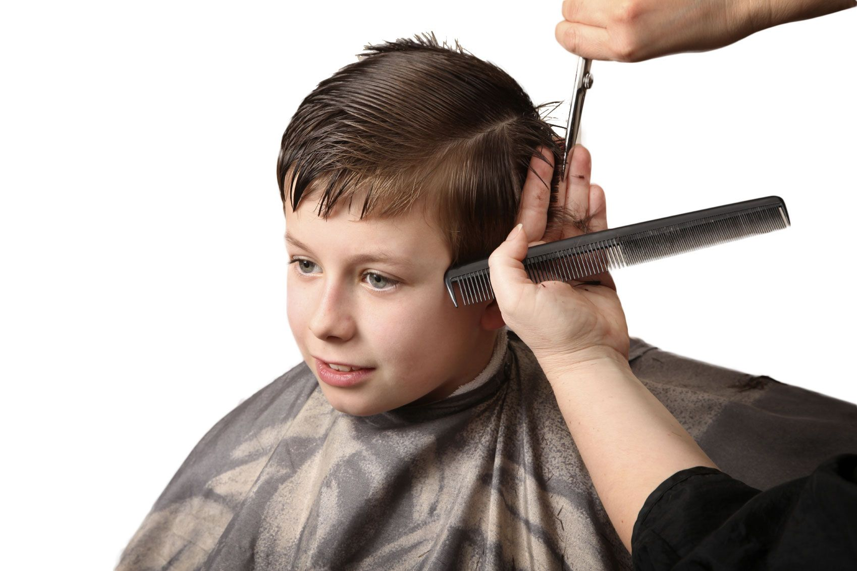 Boys will be men them looking great and learn good grooming