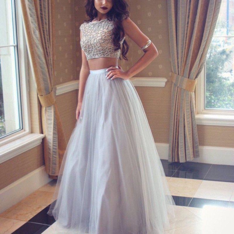 Cheap Silver Formal Dress