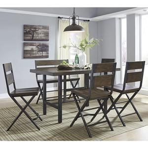 Kavara 6 Piece Dining Set In Medium Brown Nebraska Furniture
